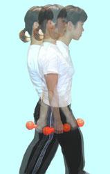 五十肩:スイング運動1